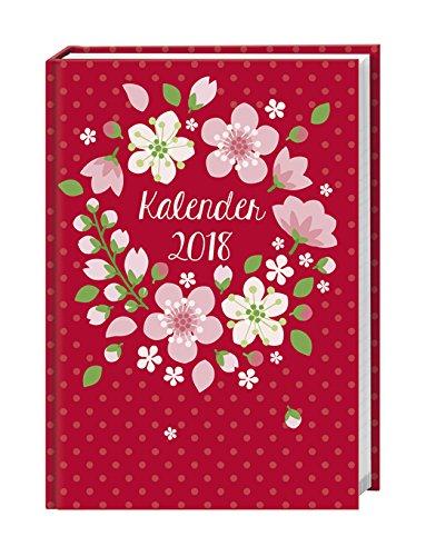 Floral - 17-Monats-Kalenderbuch A5 - Kalender 2018 - Heye-Verlag - Taschenkalender mit Stundenplänen, Schulferien und Notenübersicht - 15,2 cm x 21,5 cm