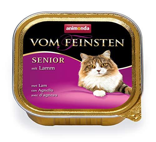 Animonda Vom Feinsten Senior Nassfutter, für ältere Katzen ab 7 Jahren, mit Lamm, 32 x 100 g (In Katzenfutter Lamm Dosen)