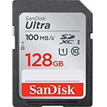 SanDisk Ultra 128 GB SDXC Memory Card up to 100MB/s, Class 10 UHS-I