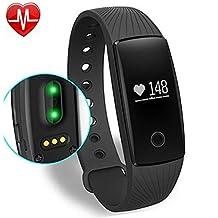 Willful Fitness Tracker Pulsera Inteligente Monitor de Pulso Cardiaco Bluetooth Pulsera Inteligente Deporte Actividad Tracker con Contador de Calorias/Monitor de Sueño/Contador de Pasos/Reloj,Compatible con iOS, Android Smartphone Soporta Llamada Mensaje SIM