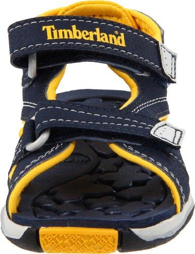 Timberland Mad River 2 Strap, Sandali Sportivi Unisex – Bambini Blu (Navy/Giallo)