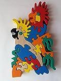 Ciondolo in legno esotico giocattolo uccello pappagallo uccello giocattolo regalo per bambini giocattolo di legno di faggio massiccio