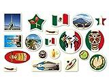 XXL-Großkonfetti * MEXIKO * mit 57 großen Konfetti-Teilen für eine Motto-Party oder Länder-Party // Mexico Mittelamerika Kinder Kindergeburtstag Deko Motto