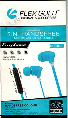 In-Ear Hands-free Earphones with Mic & Volume Controller for Samsung Galaxy S3 / S4 / S5 / Note 1 / 2 3 / Grand / Grand Neo / Champ / Ace S5830 / Ace 2 / Ace 3 / Galaxy Tablets / Apple iPhone 5 / 5S / 5G / 4 / 4S / 4G / 3 / 3G / iPad 2 / 3 / 4 / MP3 & MP4 Players / HTC / Blackberry / Micromax / Karbonn / Spice / PC / Laptops / Computers / 3.5mm Jack Android or Windows Mobile Phones, Tablets, Phablets (White)