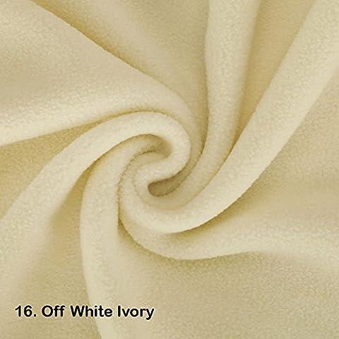 Tissu Polaire de qualité, 1 mètre. Neotrims. Test International, Approuvé anti-peluche. 21 couleurs, belle matière pour vêtements, décoration intérieure et couture, alternative vegan à la laine