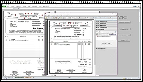 Rechnungsprogramm mit Produktpalette, Kundendatenbank PDF Funktion. Einfache Bedienung ohne Computererfahrung 2 Steuersätze in einem Formular möglich Regelversteuerung Brutto Netto oder Kleinunternehmer § 19 UStG geeignet für Existenzgründer