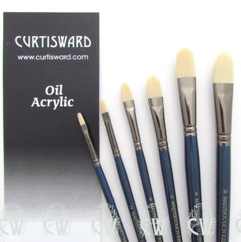 curtisward-mastertouch-olio-acrilico-filberts-6-set-di-pennelli-per-artisti