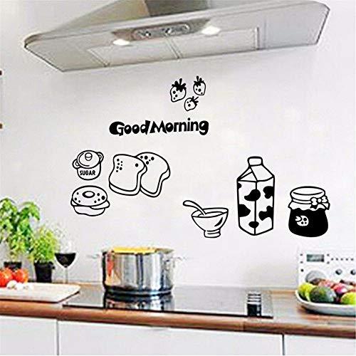Cchpfcc Guten Morgen Frühstück Wandtattoos Abnehmbare Esszimmer Und Küche Kühlschrank Vinyl Aufkleber Küche DekorationKunst