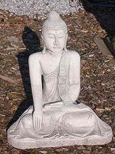 Buddha Thailand Steinfigur Steinguss + inkl. original Pflegeanleitung von Steinfiguren Welt