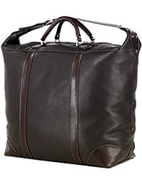 LIVAN® - sac de voyage diligence - 60 X 36 X 25cm - Porté à main ou avant-bras - 100% cuir de vachette neuf (ROUGE)