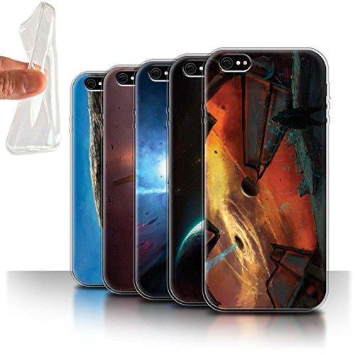 Offiziell Chris Cold Hülle / Gel TPU Case für Apple iPhone 6S+/Plus / Entfernten Stern Muster / Galaktische Welt Kollektion Pack 6pcs