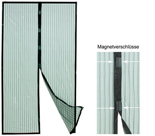 Benelando Insektenschutzvorhang mit Magneten 210 cm x 100 cm