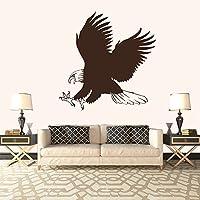 Bald Eagle caccia agli uccelli e piume