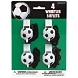 Unique Soccer Ball Whistles (4 Count), M...