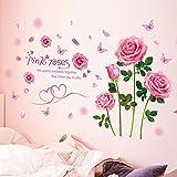 Schlafzimmerdekoration Rosa Rose Lieben Wohnzimmer Schlafsofa Sofa Hintergrund Wand Wand Aufkleber Aufkleber
