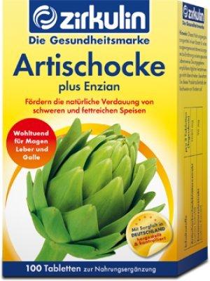 ZIRKULIN Artischocke plus Enzian Tabletten 100 St Tabletten