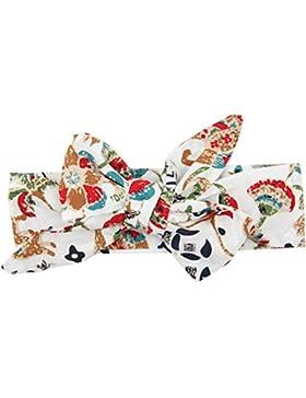 Kanggest Un Bebé Patrón Floral Bowknot Cabeza Turbante para los Recién Nacidos Fotografía Props Headband Accesorios