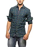 Groove Men Cotton Green Casual Shirt (La...