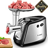 Aobosi Electric Meat Grinder with 3 Stainless Steel Cutting Plates,Sausage Maker Kit