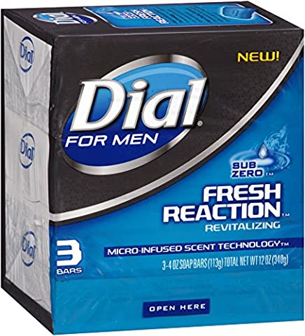 Dial For Men Fresh Reaction Bar Soap, Sub Zero, 3 Count by Dial