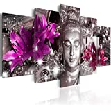 murando - Cuadro en Lienzo 200x100 cm - Buda - Impresion en calidad fotografica - Cuadro en lienzo tejido-no tejido - flores h-C-0029-b-o