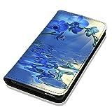 Hülle Galaxy S5 / S5 Neo Hülle Samsung S5 / S5 Neo Schutzhülle Handyhülle Flip Cover Case Samsung Galaxy S5 / S5 Neo (OM1030 blaue Orchidee Blau)