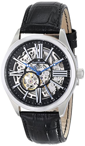 Thomas Earnshaw Men's ES-8037-01 Armagh Analog Display Automatic Self Wind Black Watch