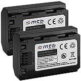 2x Batterie NP-FZ100 (2040mAh) pour Sony Alpha 7 III, ILCE-7M3, Alpha 7R III, ILCE-7RM3 | Sony a9, ILCE-9 [Li-Ion - 7.2V - avec infochip]