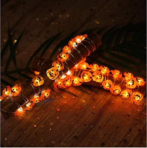 Luci da fata led di halloween, decorazione a forma di zucca fai-da-te per la casa, luci a bassa tensione/sicurezza/impermeabili, decorazioni per feste