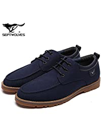 Aemember à l'automne de l'affaire des hommes Casual Chaussures Chaussures Chaussures à tête ronde d'usure confortable ,44, noir