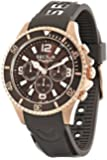 Sector Men's Quartz Watch with Brown Dial Analogue Display and Brown PU Strap R3251161004