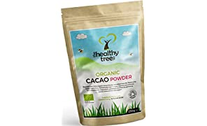 Organic Raw Cacao Powder - Delicious Superfood High in Protein, Magnesium, Fibre and Potassium - Great in Yoghurt, Smoothies & Baking - Cacao Powder by TheHealthyTree Company