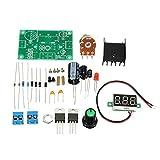 SODIAL(R) DIY Kit LED LM317 Einstellbarer Spannungsregler Step-down Netzteil-Set