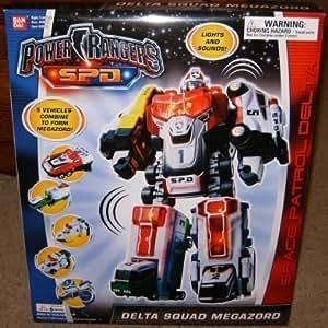 Delta Squad Megazord SPD Electronic Power Rangers Action Figure by BanDai MMPR S.P.D.