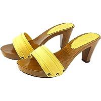 Kiara Shoes Zoccoli Gialli Tacco 8 cm - Consegna in 24/48 Ore lavorative - 72 Ore Isole e cap remoti (Italia) K5101…