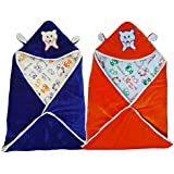 BRANDONN FASHIONS Pack Combo Of 2 New Born Baby All Season Use 3 IN 1 Baby Wrapper OR Blanket Cum Sleeping Bag Cum Bedding(0-4months)(ASSORTED)