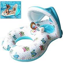Qilerongrong Baby Schwimmsitz Schwimmhilfe Schlauchboot Schwimmreifen für 6-36 Monate alten Babys