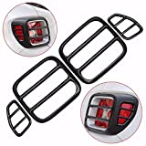 Mfpower 4pcs nero ferro TailLight Lamp cover Trim Frame
