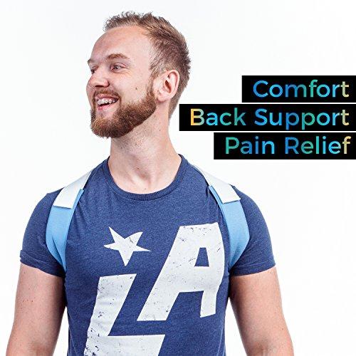 Goodlex | Corrector de Postura de Espalda y Hombro Ajustable y Acolchonado Para Hombres y Mujeres | Alinee su Espalda  Elimine los Hombros Caídos y el Encorve  Alivie su Molestia y Prevenga una Lesión