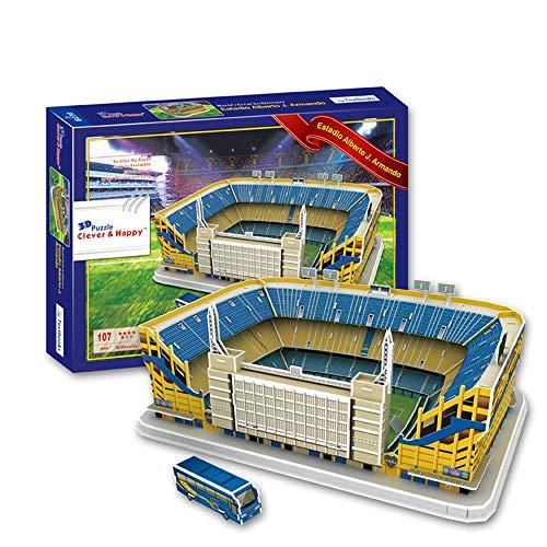 Sportstadion 3D-Modell, Argentinien Boca Junior Club Pralinenschachtel Stadionmodell Fan Souvenir DIY Puzzle, 16