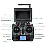 RC Quadrocopter Potensic Drohne mit 5.8GHz 6-Achsen-Gyro 2MP HD Karmera FPV Monitor Video Live Übertragung 3D Flip Funktion- Blau - 6