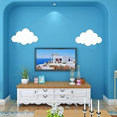 LED Art de dessin animé simple Applique murale en forme de nuage Chambre à coucher blanche Chambre à coucher de chevet Chambre pour enfants Lampe murale en fer Mur de fond Éclairage de jardin d'enfants, Lumière chaude LED 5W