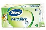 Zewa bewährt Toilettenpapier, strapazierfähiges WC-Papier 3-lagig in zartem Gelb, 1 x Vorratspack mit 16 Rollen