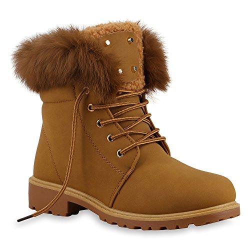 UNISEX Damen Herren Warm Gefütterte Damen Worker Boots Stiefeletten Outdoor Hellbraun Gefüttert