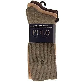 Polo Ralph Lauren 3 Pack Casual Sock Homme Chaussettes Vert