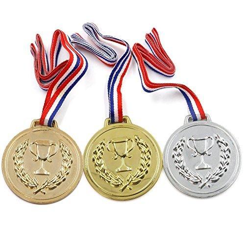 10er Packung Mit Preis Schul Auszeichnungen Sporttage Olympisches Gold Silber Bronze Gewinner Kunststoff Medaillen