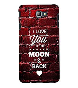Fuson Designer Back Case Cover for Samsung On7 (2016) New Edition For 2017 :: Samsung Galaxy On 5 (2017) (I Love You Theme)