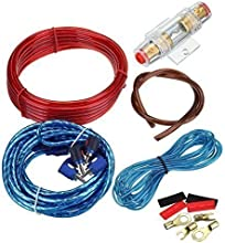 Ridgeyard 1500W Amplificador de coches alambre cableado Kit 10GA 60 AMP Car Audio Sub / Cable Power Amp