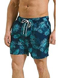 Threadbare hommes Hawaii Short NATATION Unique Palmier shorts de plage DOUBLURE MAILLE