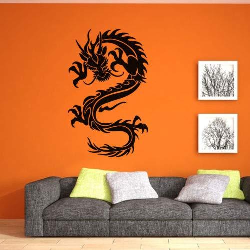 hllhpc Chinesischen Alten Stil Drachen Wandaufkleber Vinyl Wandbild Für Wohnkultur Abnehmbare Wanddekoration Wallpaper93 * 58 cm